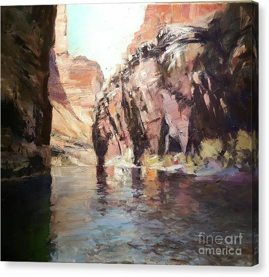Down Stream On The Mighty Colorado River Canvas Print