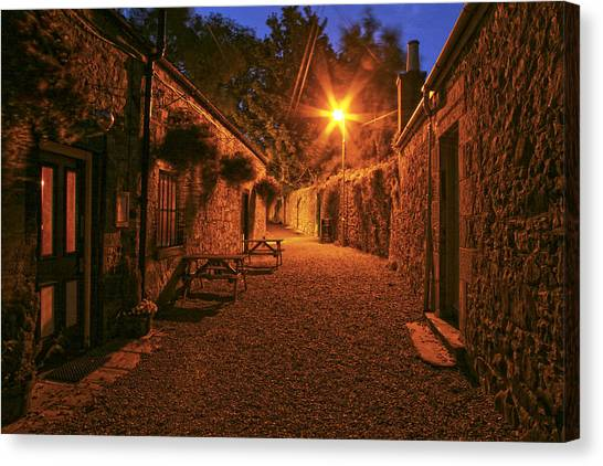 Down The Alley Canvas Print