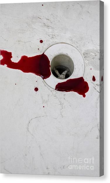 Down The Drain Canvas Print