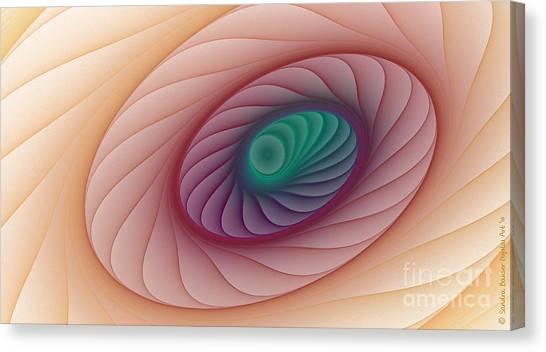 Down The Drain Canvas Print by Sandra Bauser Digital Art