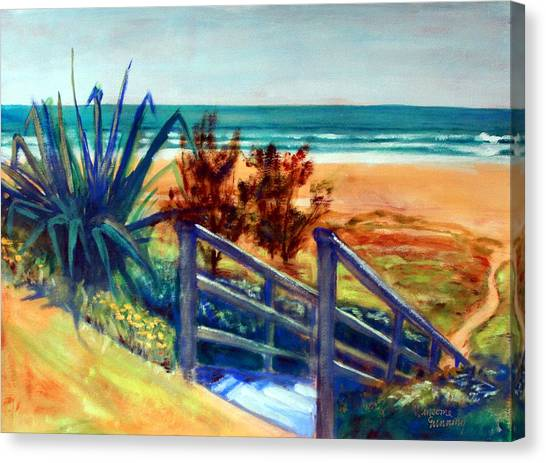 Down The Stairs To The Beach Canvas Print