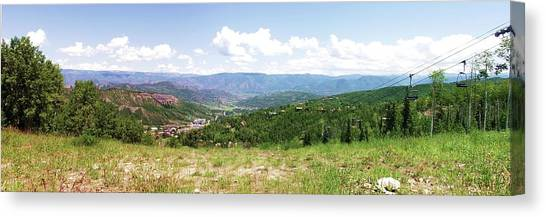 Down The Valley At Snowmass #2 Canvas Print