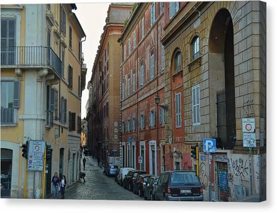 Down Via Giulia Canvas Print by JAMART Photography