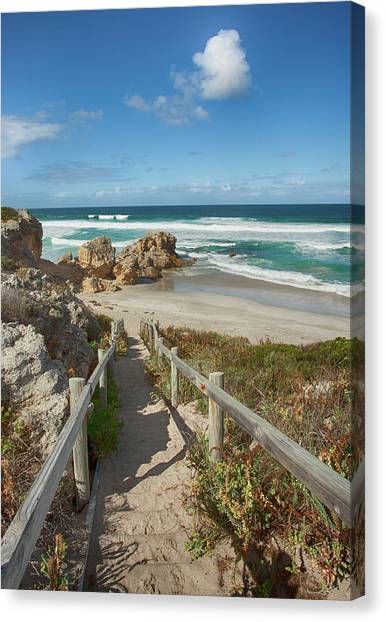 Pennington Bay Canvas Print - Down We Go by Anne Christie