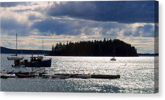 Downeast Reflections Canvas Print by Steven Scott