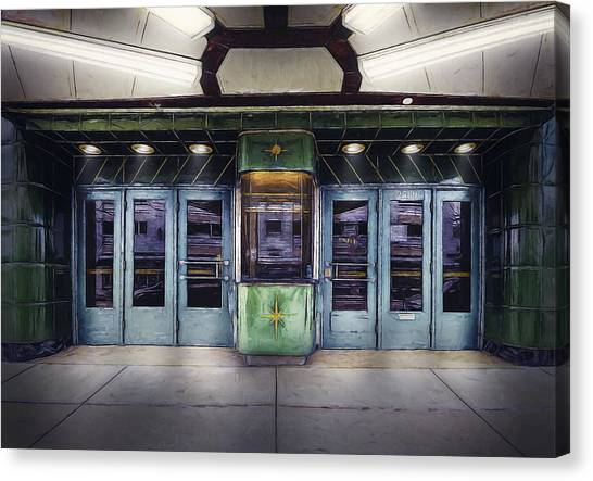 Bases Canvas Print - Downer Theater Box Office by Scott Norris