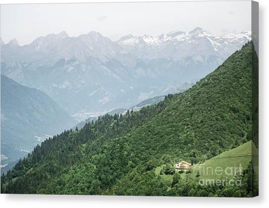 Altitude Canvas Print - Downhill by Evelina Kremsdorf