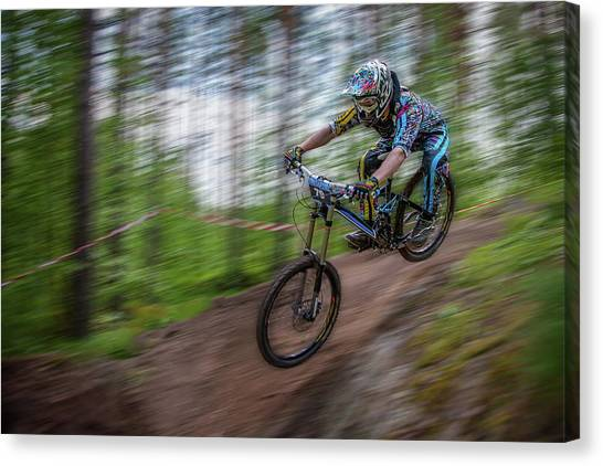 Downhill Race Canvas Print