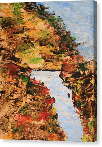 Downhill Stream Abstract Canvas Print