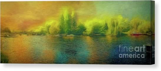 Downriver Glow Canvas Print