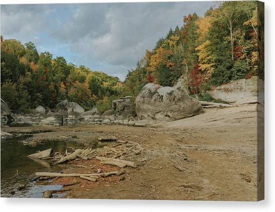 Downstream From Cumberland Falls Canvas Print