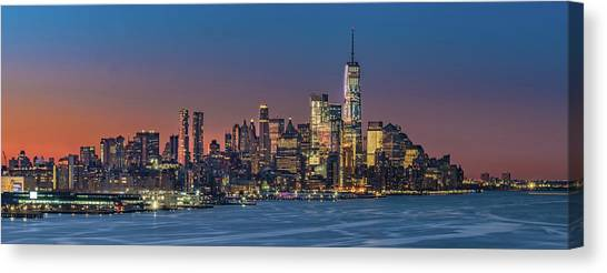 Downtown And Freedom Tower Canvas Print