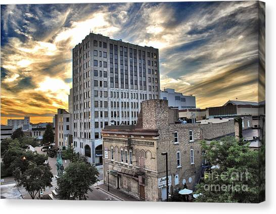 Downtown Appleton Skyline Canvas Print