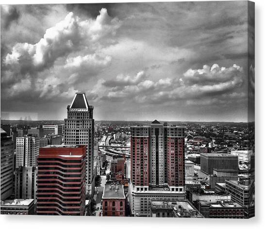 Downtown Baltimore City Canvas Print