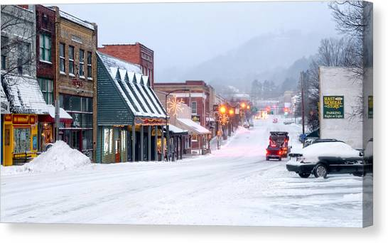 Appalachian Canvas Print - Downtown Boone by Tommy White