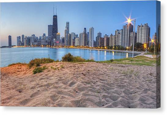 Chicago Canvas Print - Downtown Chicago From North Beach by Twenty Two North Photography