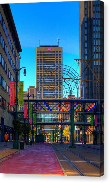 Downtown Color Canvas Print