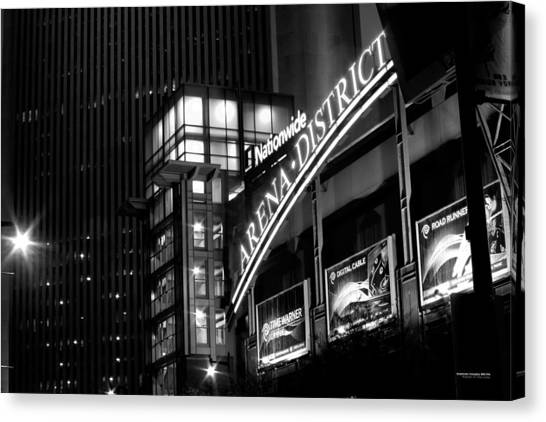 Canvas Print featuring the photograph Downtown Columbus Bw1734 by Brian Gryphon