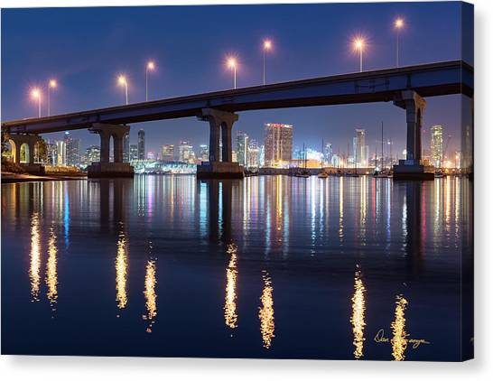 Canvas Print featuring the photograph Downtown by Dan McGeorge