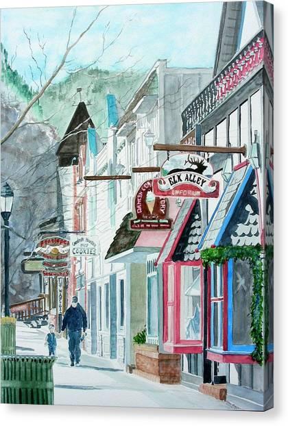 Downtown Estes Park Winter Canvas Print