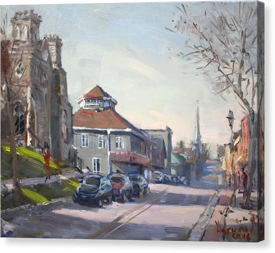 Georgetown University Canvas Print - Downtown Georgetown On by Ylli Haruni