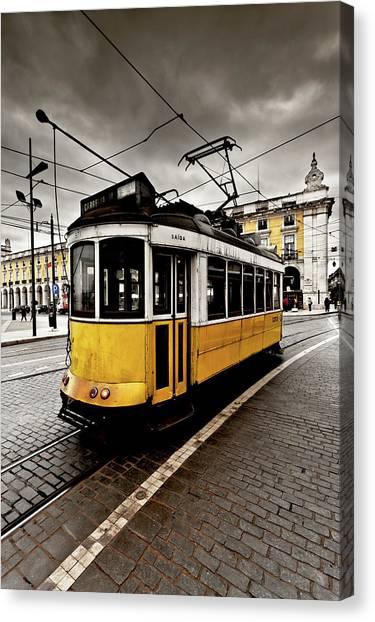 Light Rail Canvas Print - Downtown by Jorge Maia