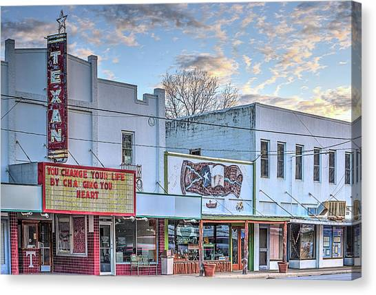 Downtown Junction Texas Canvas Print by JC Findley