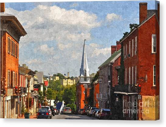Downtown Lexington 3 Canvas Print by Kathy Jennings
