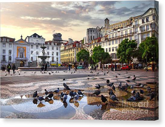 Downtown Lisbon Canvas Print