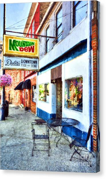 Mountain Dew Canvas Print - Downtown Maysville Kentucky # 3 by Mel Steinhauer