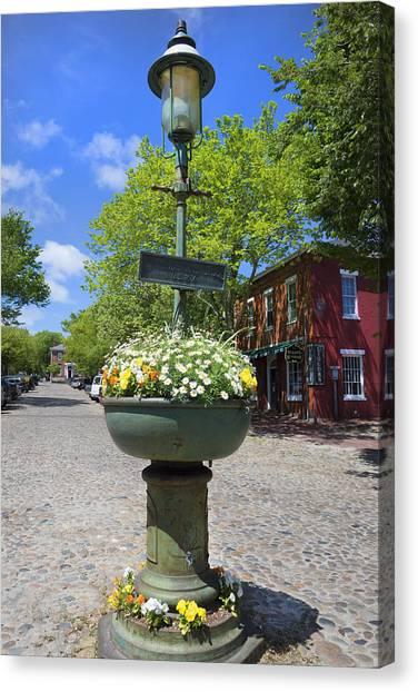 Downtown Nantucket - Garden View 46y Canvas Print