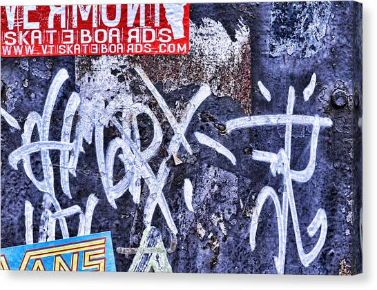 Skateboarding Canvas Print - Downtown Northampton - Skateboards by HD Connelly