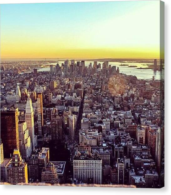New York City Skyline Canvas Print - Downtown Or Lower Manhattan by Carmelo Pineda