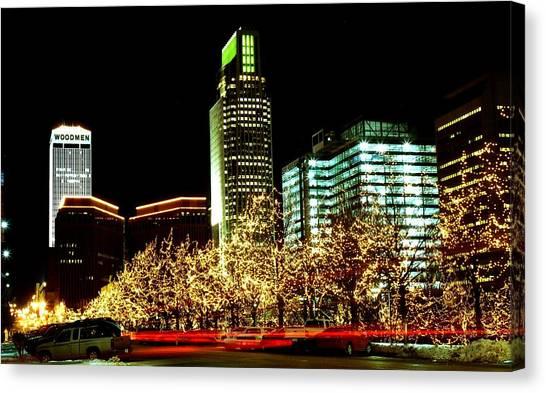 Downtown Omaha Skyline Canvas Print