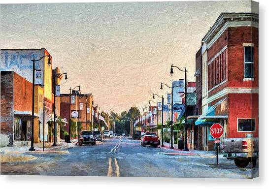 Downtown Paragould Canvas Print by JC Findley