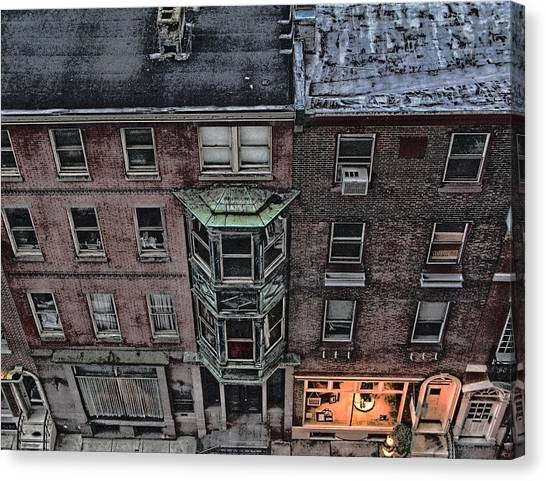 Downtown Philadelphia Building Canvas Print by Anthony Rapp