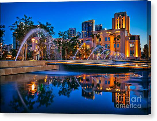 Downtown San Diego Waterfront Park Canvas Print