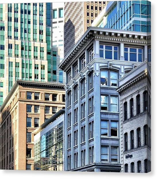 Canvas Print - Downtown San Francisco by Julie Gebhardt