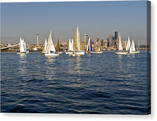 Downtown Seattle Canvas Print by Tom Dowd
