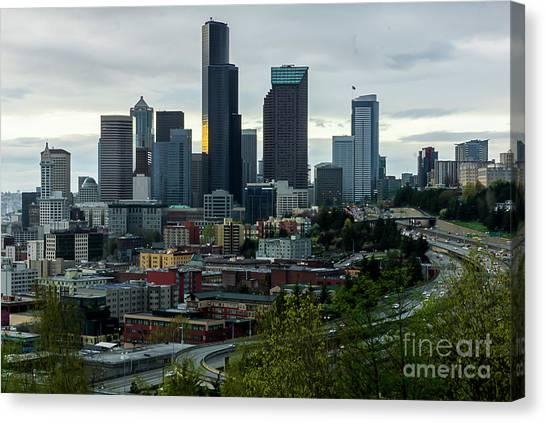 Downtown Seattle,washington Canvas Print