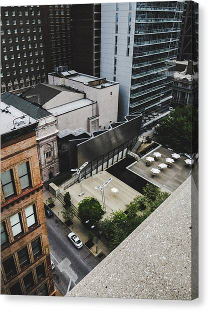 Downtown St. Louis From A Rooftop Canvas Print by Dylan Murphy