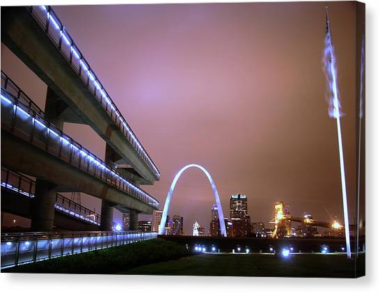 Downtown St. Louis From The East Side Canvas Print