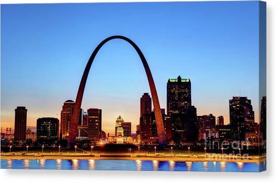 Downtown St Louis, Missouri Skyline Canvas Print by Denis Tangney Jr
