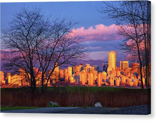 Downtown Vancouver Canvas Print by Paul Kloschinsky