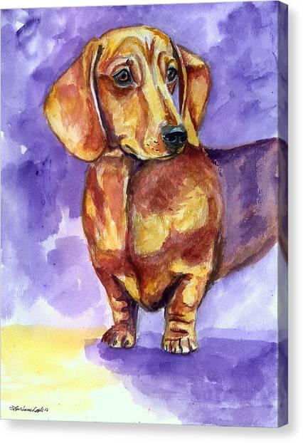 Dachshunds Canvas Print - Doxie - Dachshund Dog by Lyn Cook