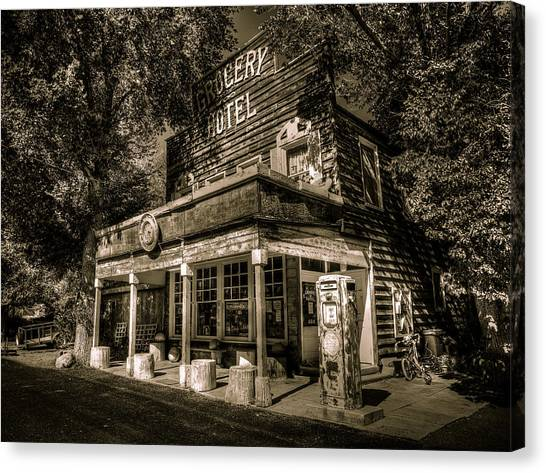 Grocery Store Canvas Print - Doyle Grocery And Hotel by Scott McGuire