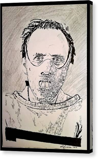 Silence Of The Lambs Canvas Print - Dr. Hannibal Lecter by Cormac Lane
