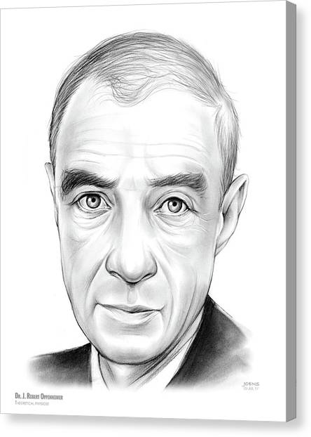 Bombs Canvas Print - Dr. J. Robert Oppenheimer by Greg Joens