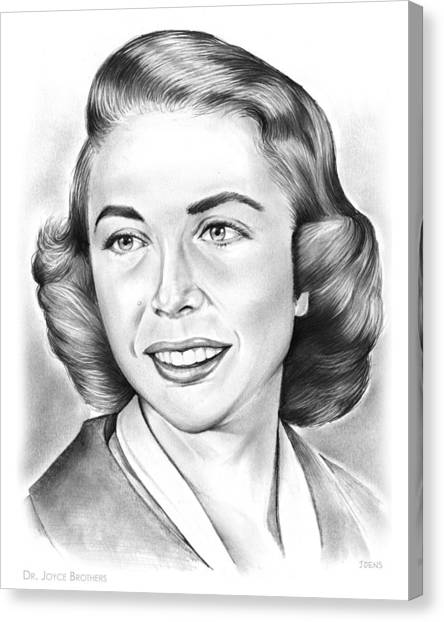Boxing Canvas Print - Dr. Joyce Brothers by Greg Joens