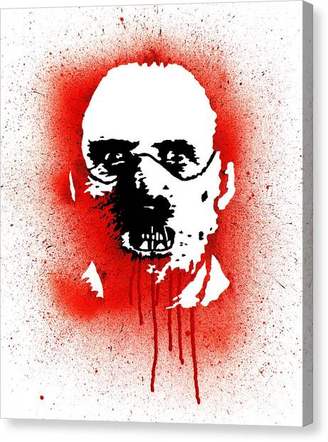 Anthony Hopkins Canvas Print - Dr Lector by Ian King